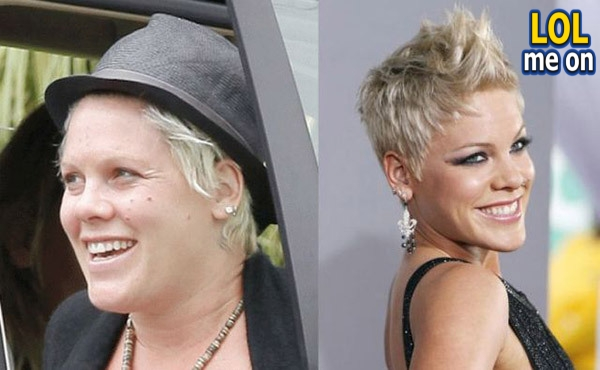 "funny celebrities picture shows Pink from ""LOL me on"""