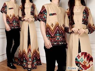 model baju batik untuk pesta pernikahan terbaru