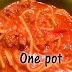 One Pot Deer Spaghetti