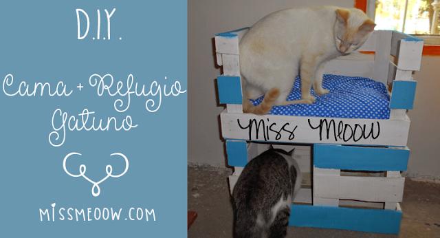 ♡DIY: Cama + Refugio para gatitos.