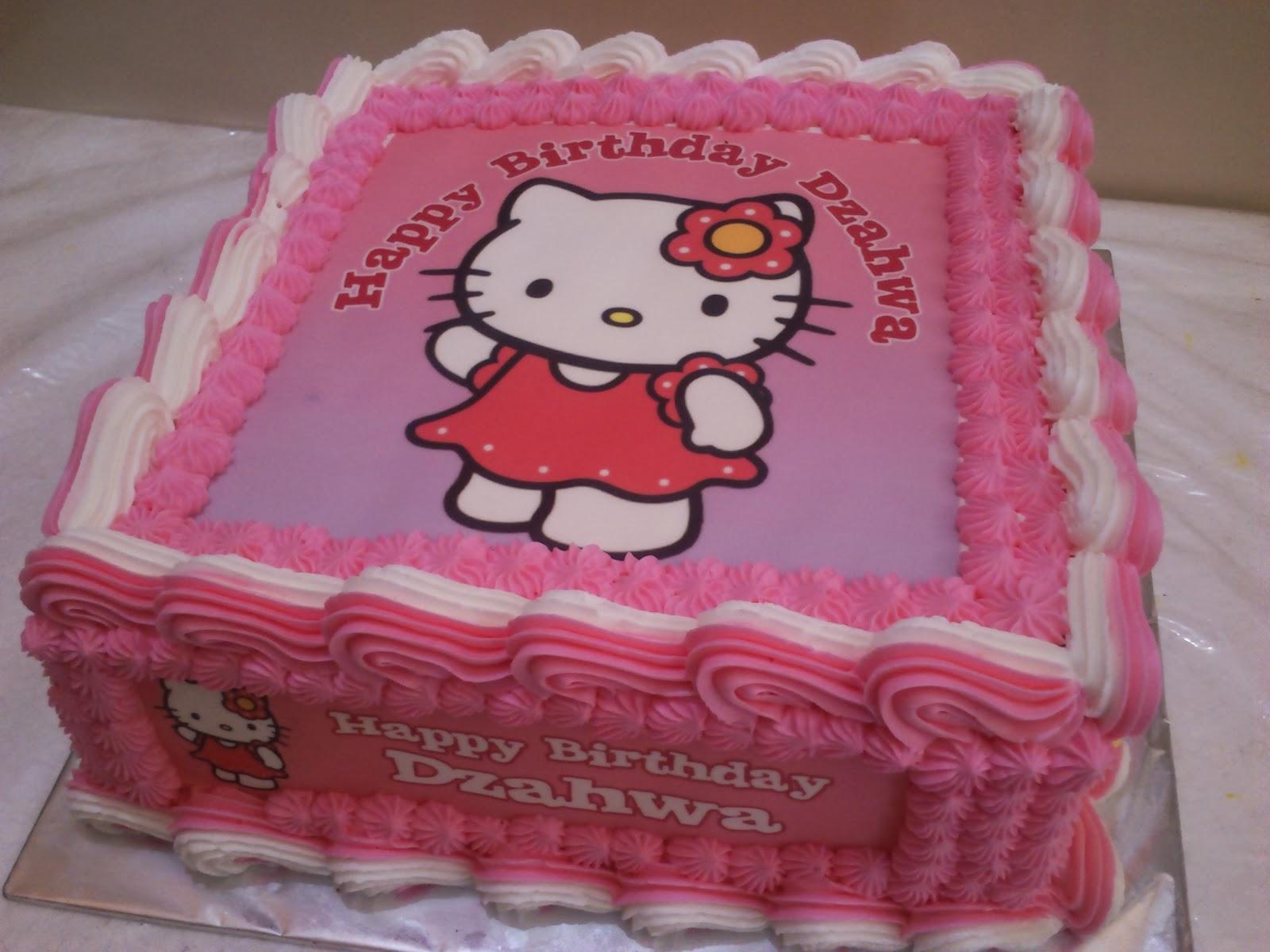 Kue Ulang Tahun Anak Gambar Hello Kitty