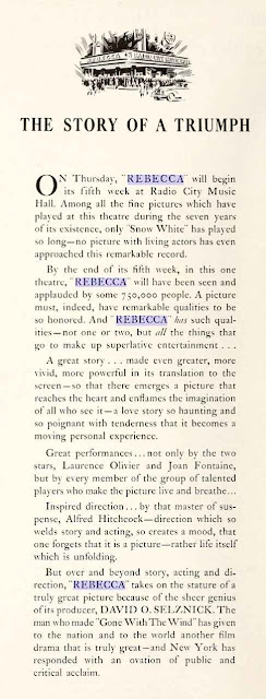 Rebecca storia di un trionfo- motion picture- 1940