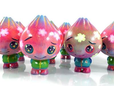 Sakura Bao Custom Vinyl Figures by Candie Bolton x Pobber x Scott Tolleson