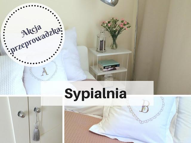 Nasza sypialnia z szafą pax ikea, aspelund, łóżkiem askvoll w stylu hamptons