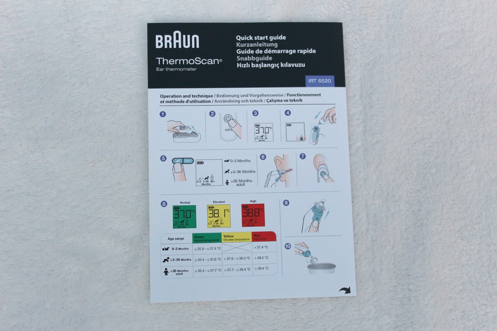 braun thermoscan ear thermometer manual