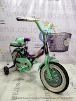 Sepeda Anak United My Music 12 Inci - Purple Green