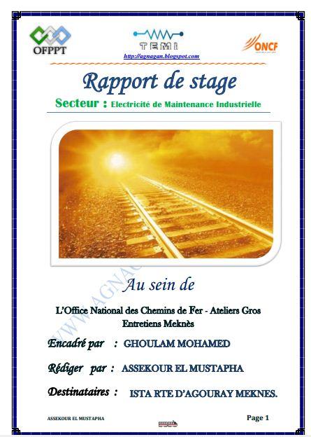 rapport de stage en  u00e9lectricit u00e9 industrielle   u00e9lectricit u00e9