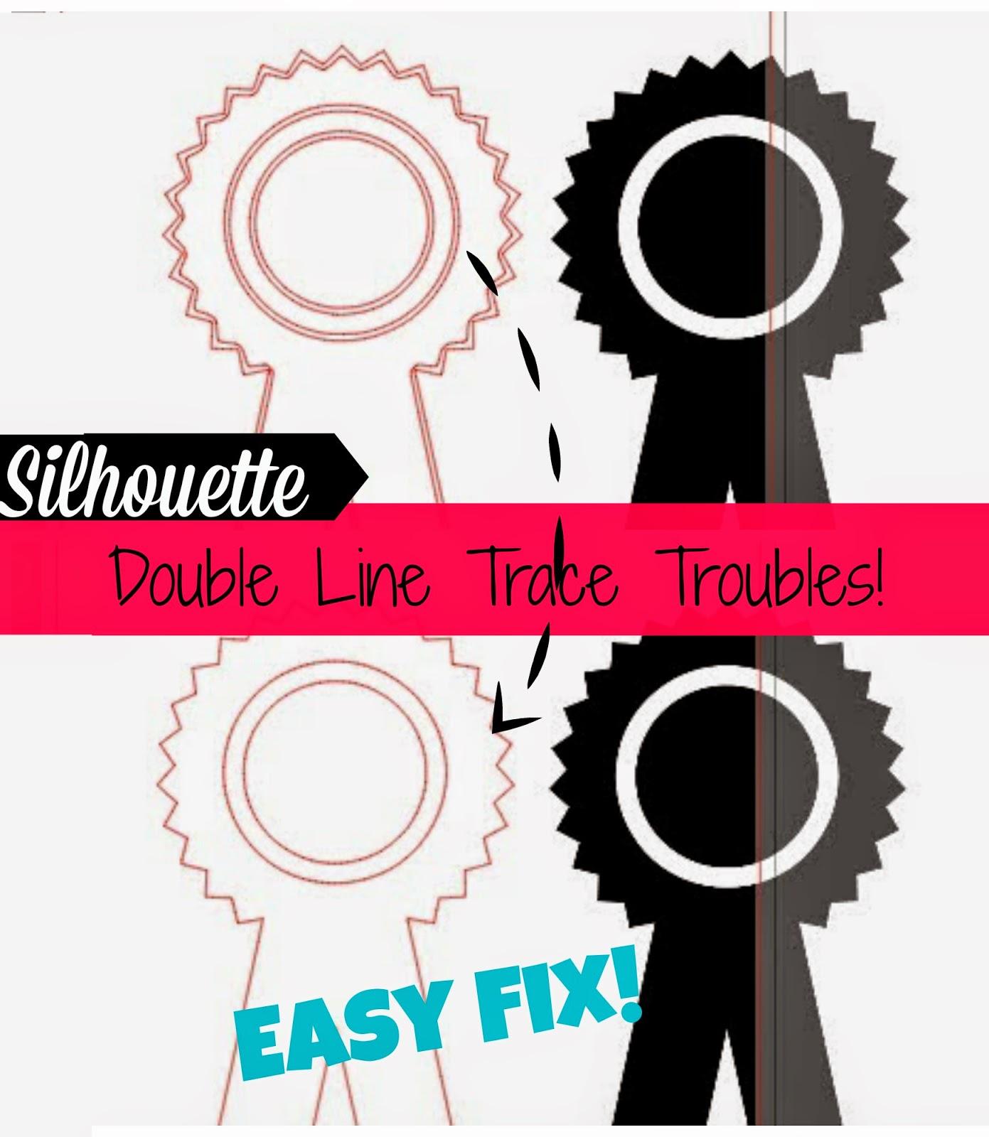 Silhouette, trace, double line, fix, Silhouette Studio