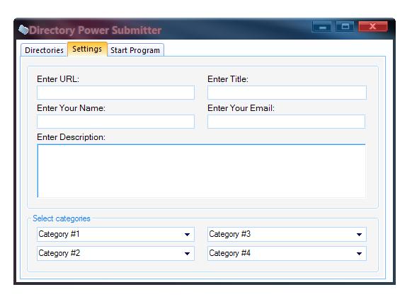 برنامج directory power submitter لنشر المواقع مجانا