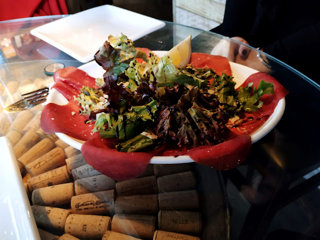 BRESAOLA SALAD BY VEENO : THE ITALIAN WINE CAFE' , A GEM IN THE HEART OF CROYDON