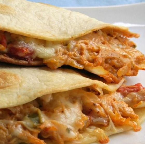Cheesy Chicken Quesadillas #Chicken #Dinner