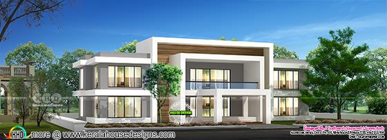 Fusion type flat roof 4 bedroom house