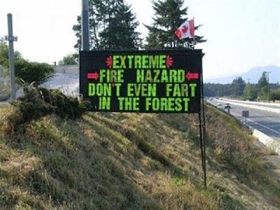Funny extreme fire hazard fart joke picture