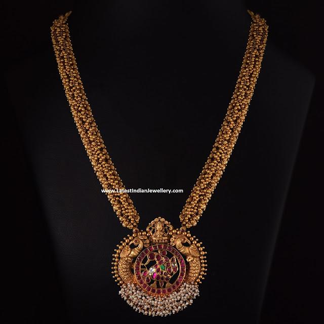 Antique Gold Gajjala Mala
