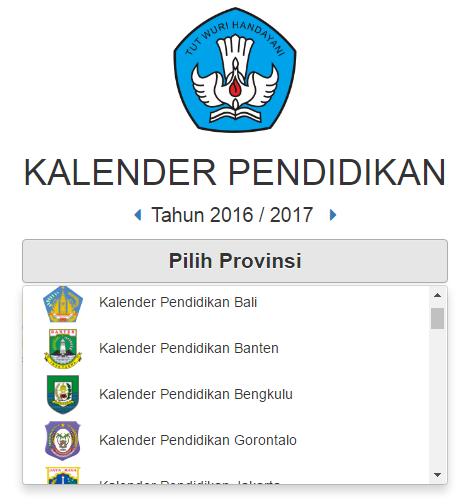Kalender Pendidikan Tahun Pelajaran 2016 2017 Semua Propinsi Indonesia Data Sekolah