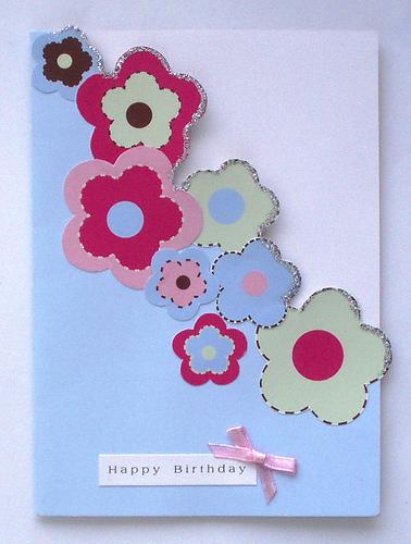 Handmade birthday cards for girls let 39 s celebrate for Sobres de goma eva