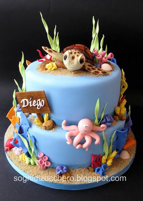 Sogni di zucchero sea cake for Decorazioni torte tema mare