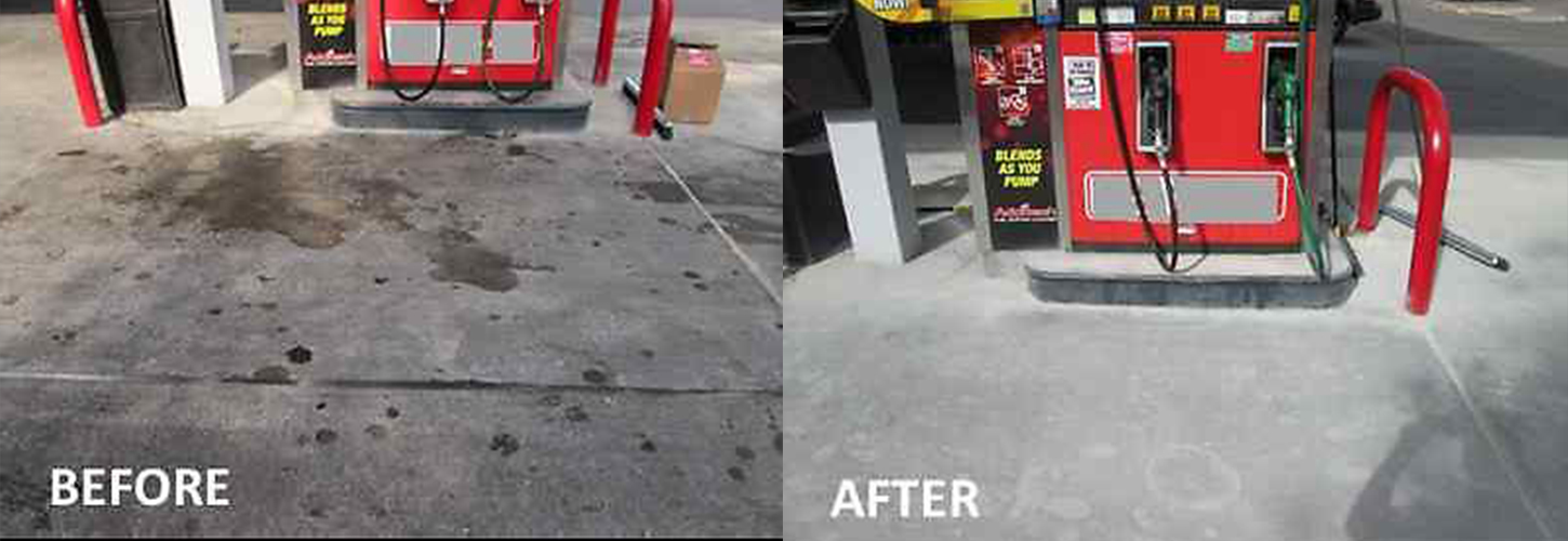 how to clean oil out of concrete