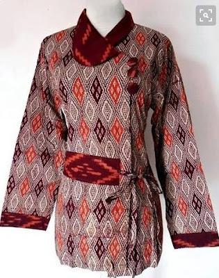 desain baju batik modern wanita muda