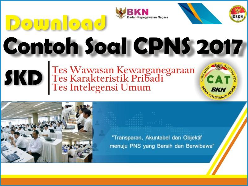 Download Lengkap Soal Dan Kunci Jawaban Tes Cpns 2017 Untuk