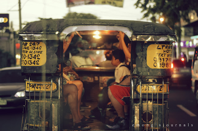 Keep your hands, arms and feet inside the jeepney.