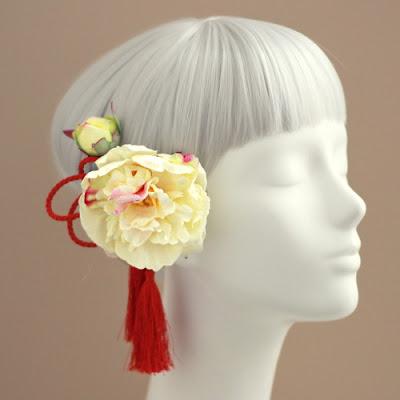 姫芍薬の髪飾り_和装髪飾り&ヘッドドレスairaka