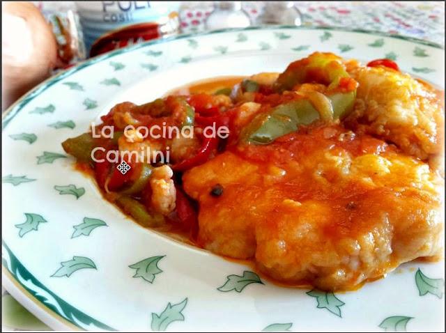 Cazón a la roteña con gambas (La cocina de Camilni)