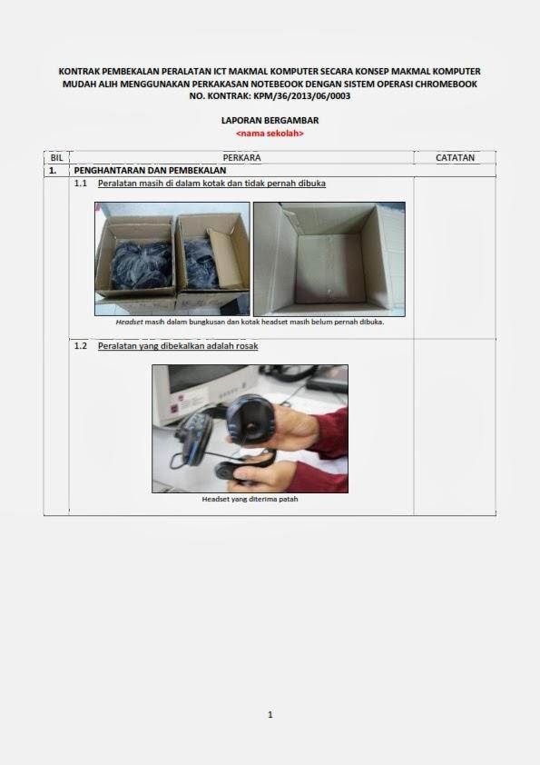 Chromebookkerian2013 Contoh Laporan Bergambar