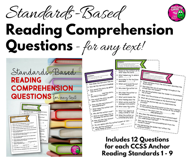 Standards-Based Reading Comprehension Questions - Visit my blog to find out how you can get this FREE resource.