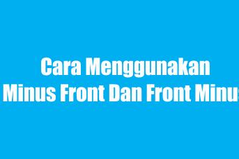 Cara menggunakan Front minus back / back minus front - Belajar corel Draw Step 6