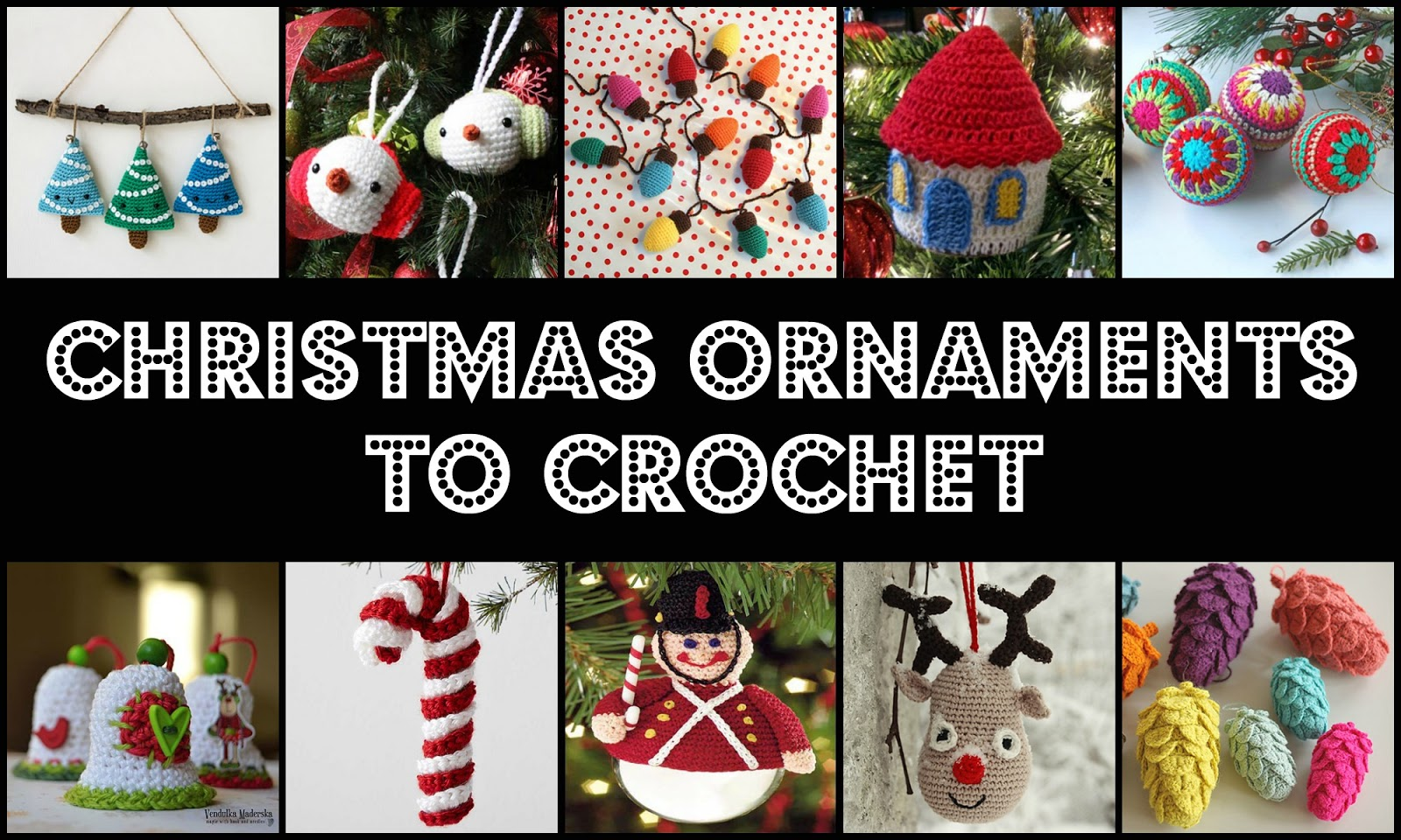 Crochet Treasures: 20 Free Christmas Ornaments Crochet Patterns