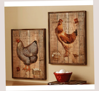 Country Kitchen Decorating Ideas Chicken Painting on The Wall and Egg Best Photo