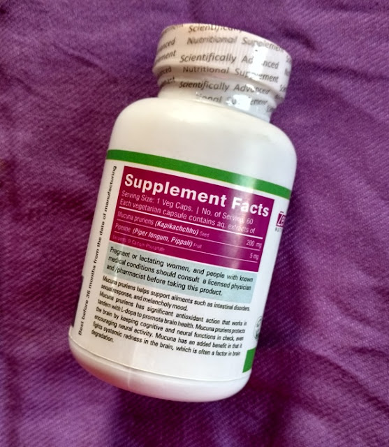 Zenith Nutrition Mucuna Pruriens Plus Review and Pictures