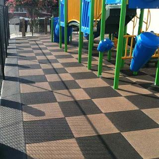 Greatmats Interlocking Playground Tiles installed