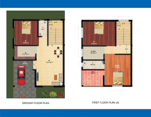 floor plan of 3bhk duplex of Anika housing