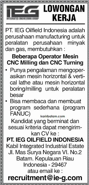 Lowongan Kerja PT. IEG Oilfield Indonesia
