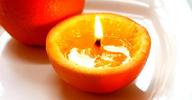 αρωματικό χώρου με πορτοκάλι