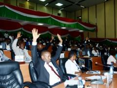 Burundi's National Assembly vote to withdraw from the International Criminal Court on October 12, 2016. By Onesphore Nibigira