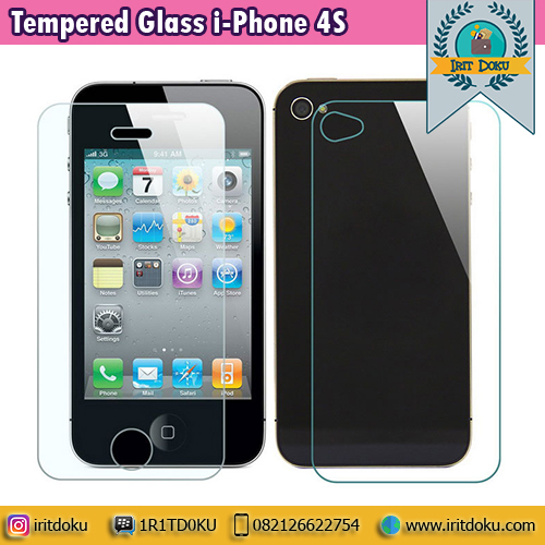 Tempered Glass i-Phone 4S