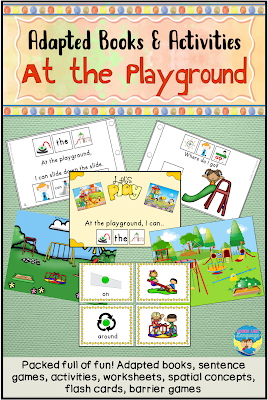 Learn playground labels, actions and rules with the activity packed At the Playground! set.