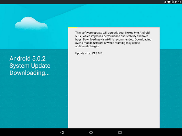 Google Nexus 9 receives Android 5.0.2 update