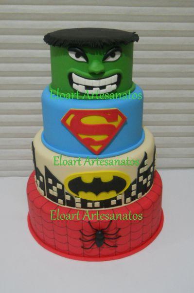 Bolos Super Heróis para Festa Infantil