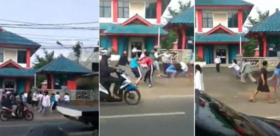 Video Tawuran Cewek SMA di Jalan Raya Parung–Depok