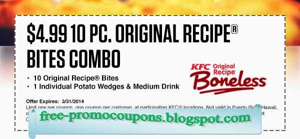 Kfc online coupons august 2018
