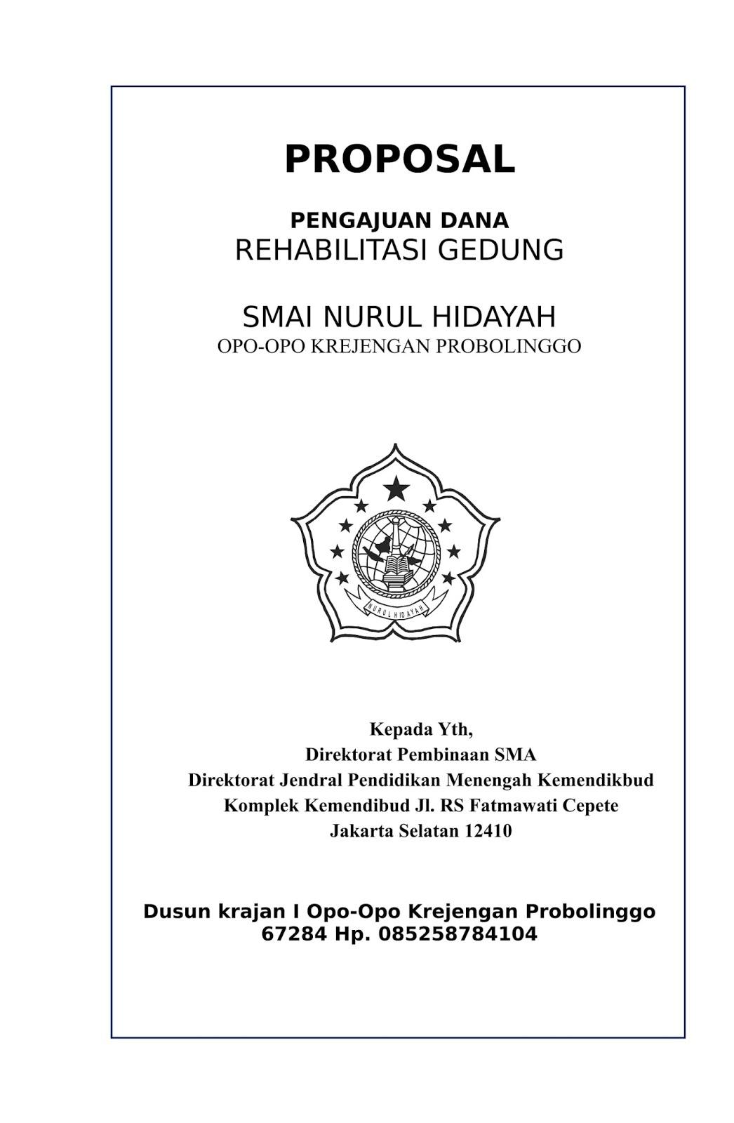 Proposal Dana Rehabilitasi Gedung Contoh Proposal Bantuan Dana