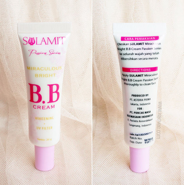 Sulamit Indonesia, Sulamit Miraculous Bright BB Cream Review, Review BB Cream baru Sulamit, Sulamit Kosmetik Aman, BPOM Sulamit