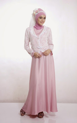 baju muslim pink