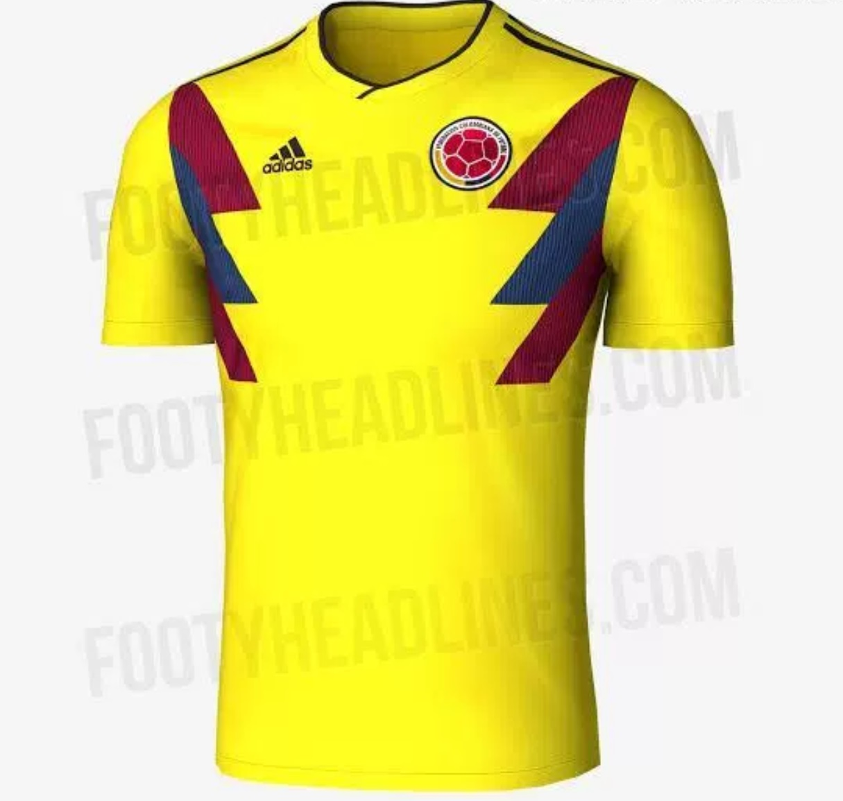 Colombia World Cup 2018 home kit revelaed
