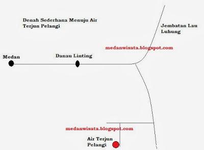 Denah Air Terjun Pelangi Medan