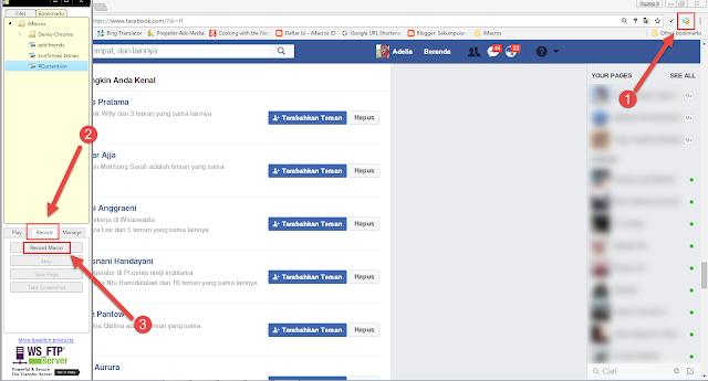 Cara Menggunakan Imacros Untuk Add Ribuan Teman Di Sosial Media Facebook
